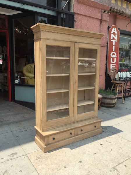 1900s Book Case with Glass Doors