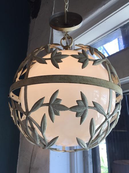 1960s Incased Metal Globe Light