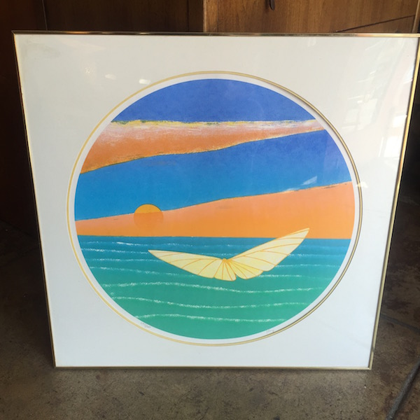 1970s Butterfly at Sunset Serigraph
