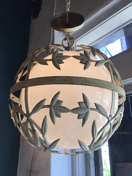 1960s Incased Metal Globe Light