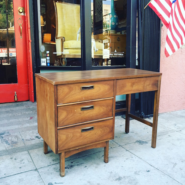Mid-century Desk with Walnut Finish