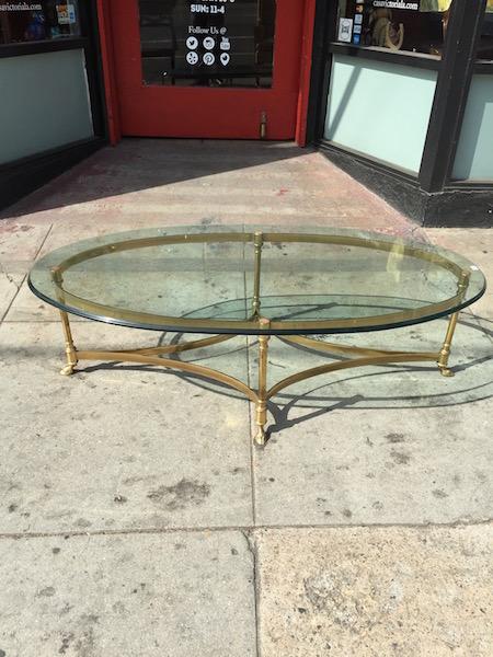 Class Brass Coffee Table
