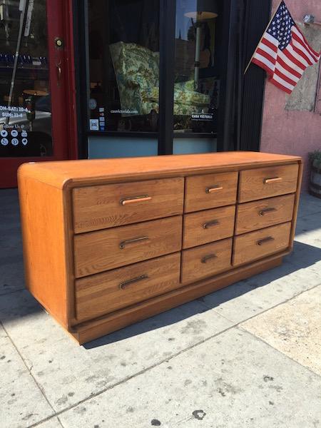 1980s Oak Dresser 9 Drawers