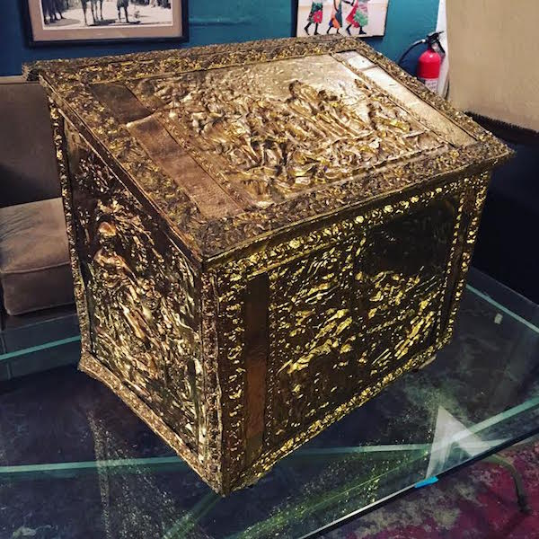 Vintage Firewood Metal Box