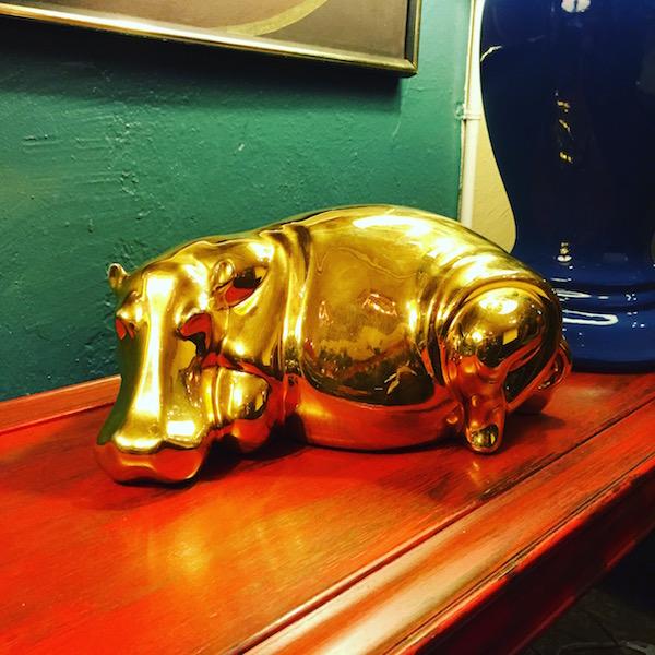 Vintage Ceramic Hippo