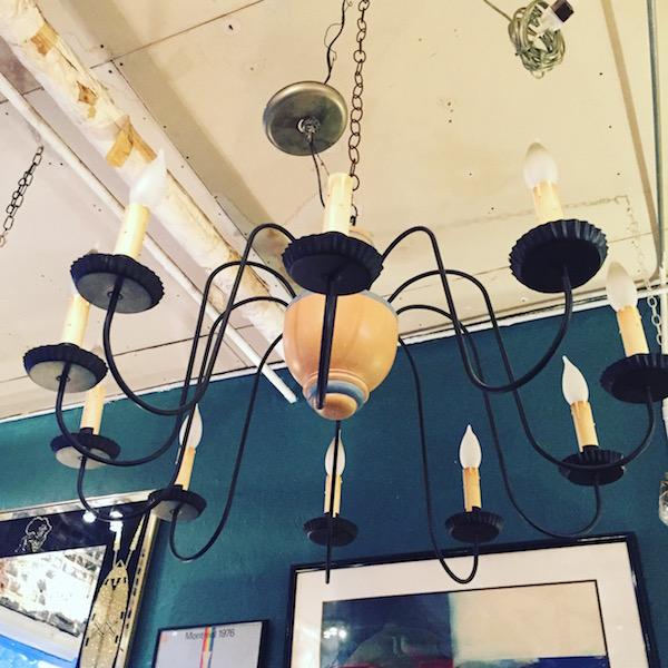 Mid-century Chandelier With Ten Lights