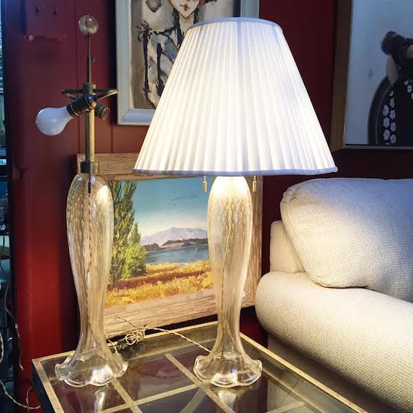 Pair of Murano Lamps by Donghia