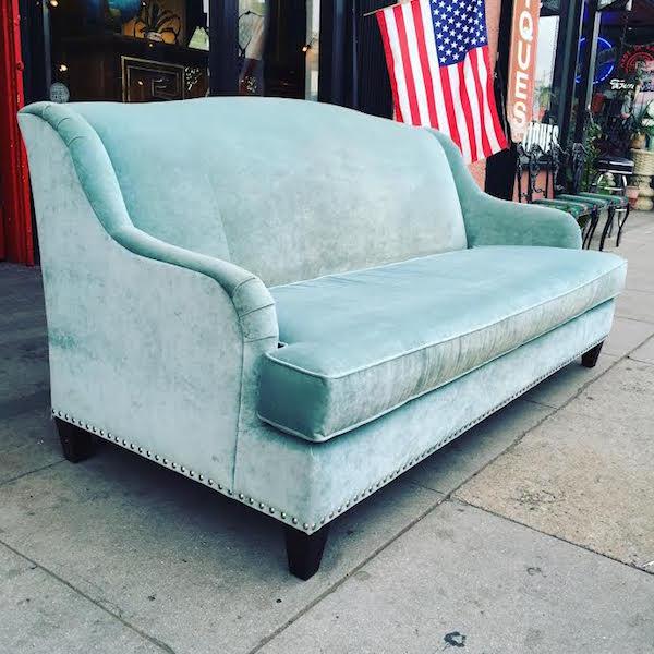 Classic Style Velvet Sofa by Bassett