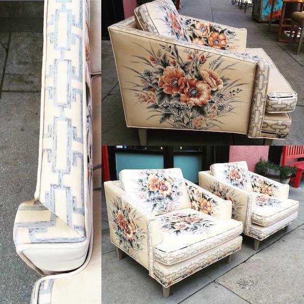 Pair of Mid-century Bel-Air Club Chairs