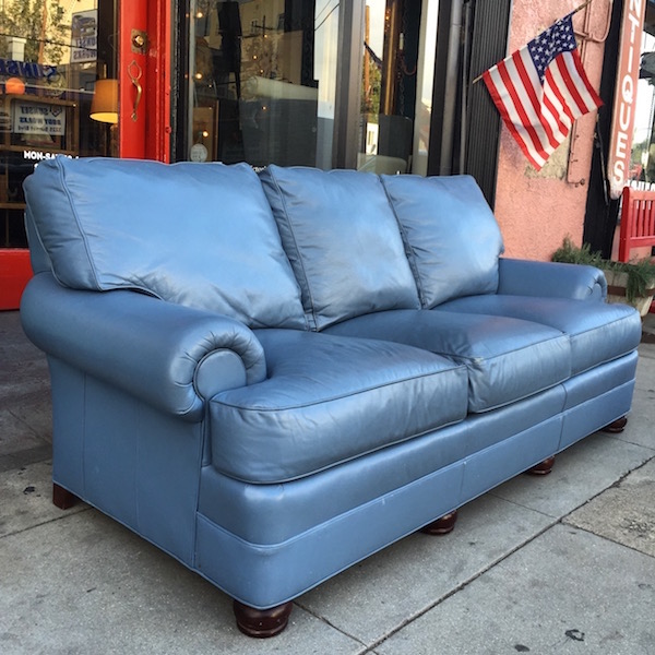Classic Leather Sofa by Hancock & Moore