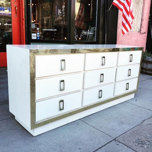 9 Drawer Ivory Dresser