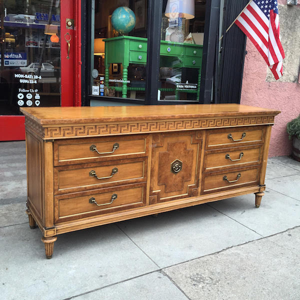 Vintage Greek Key Dresser by Thomasville