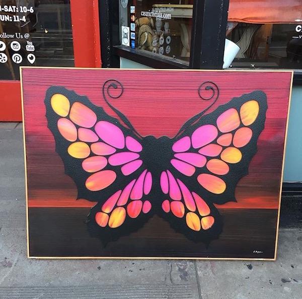 Mixed Media Butterfly Art