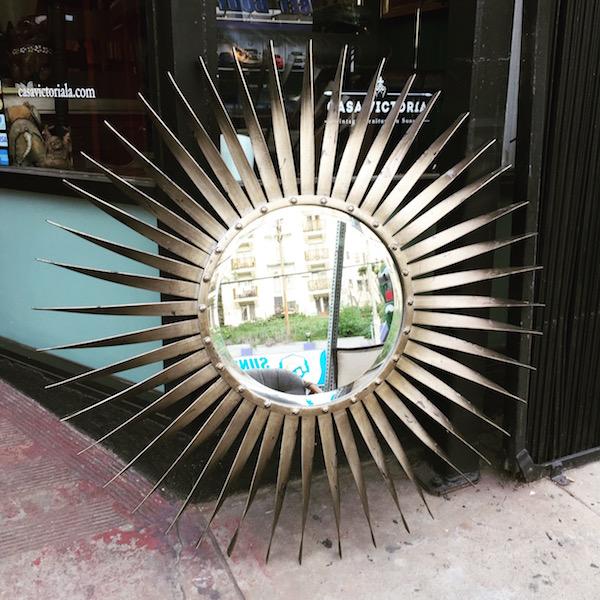 Large Modern-style Sunburst Mirror