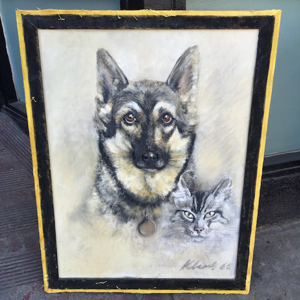 1965 Dog and Cat Painting