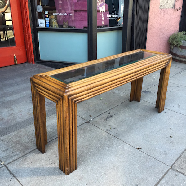 1980s LANE Console Table