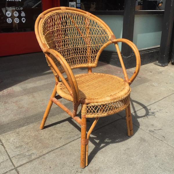 Vintage Wicker Arm Chair