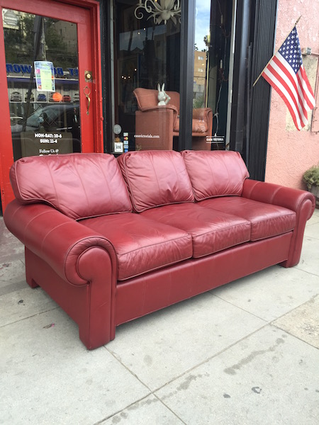 Leather Sofa by Hickory-Frye