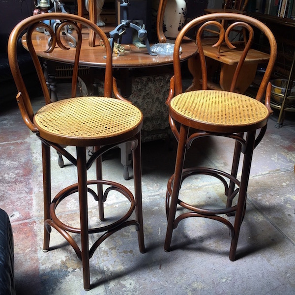 Pair of Bent Wood Stools