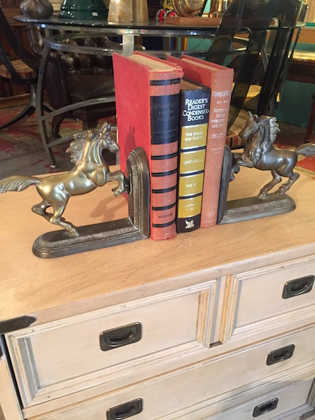 Pair of Brass Horse Book Ends