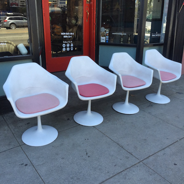Set of Four 1960s Vintage Tulip-style Chairs