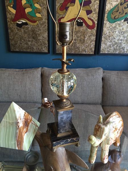 1940s Glass Ball Lamp