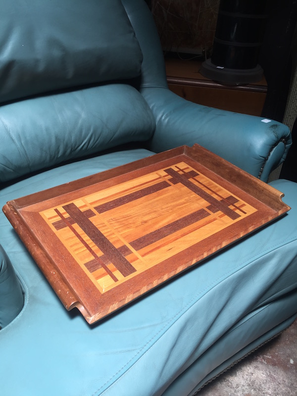 Mid-century Tray With Inlayed Design