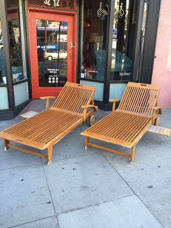 Oversized Teak Lounge Chairs