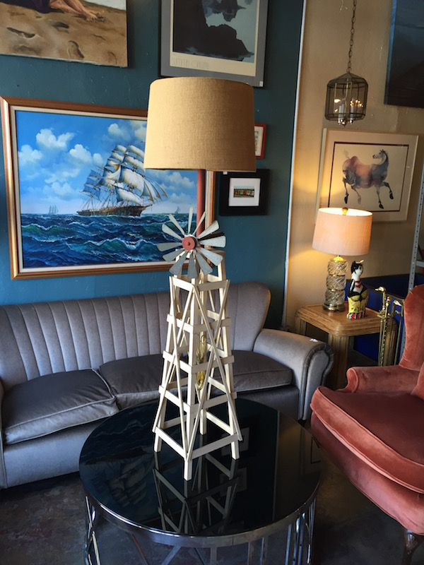 Vintage Windmill Floor Lamp