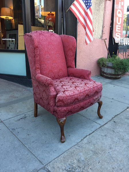 Traditional Flower Wing Chair