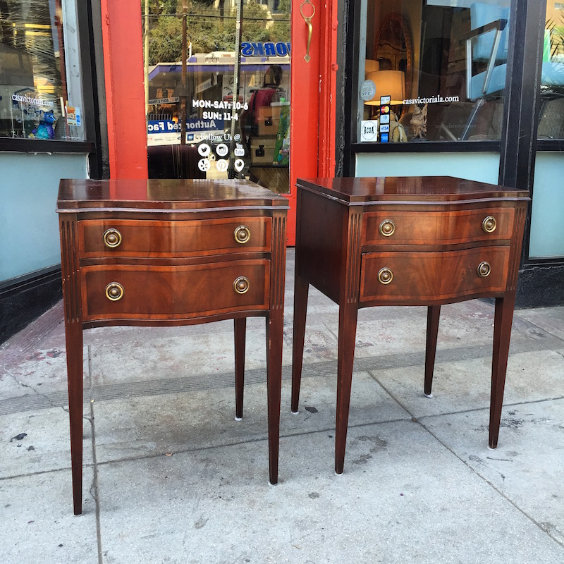 Pair of Timeless Mahogany Nightstands