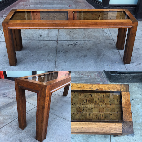 Vintage Parsons-style Console Table