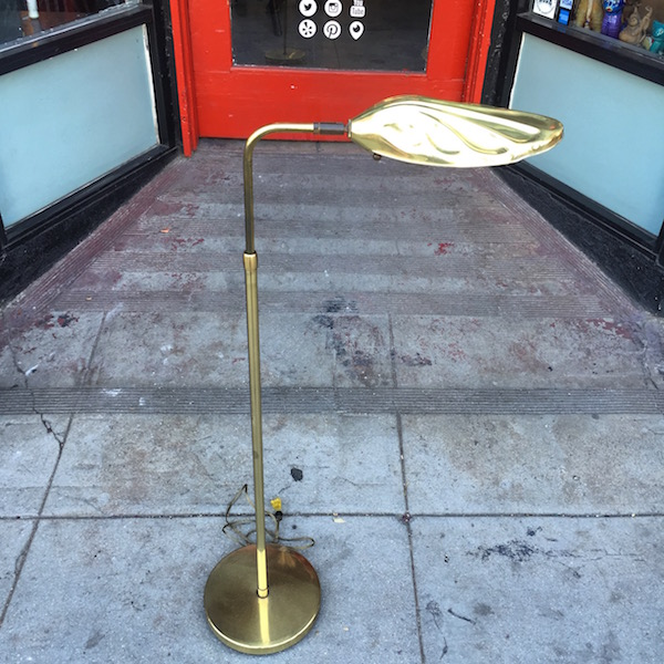 Vintage Adjustable Brass Floor Lamp