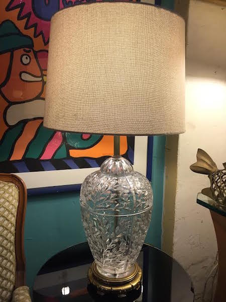 Classic Crystal Lamp by Safran and Glucksman Co