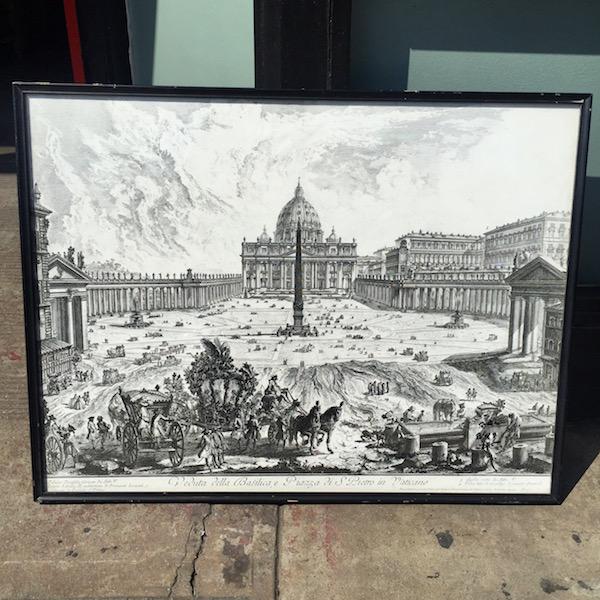 Mid-century Print of the Vatican
