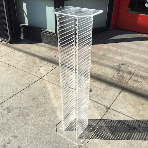 1980s Lucite CD Stand