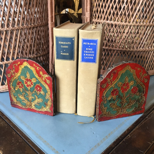Pair of 1950s Leather Bookends from Italy
