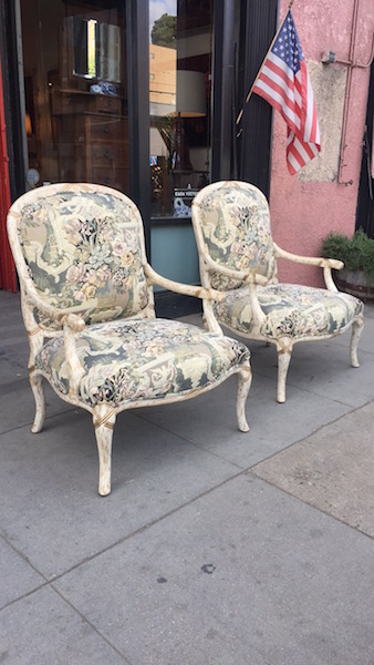 Pair of Oversized Carved Arm Chairs
