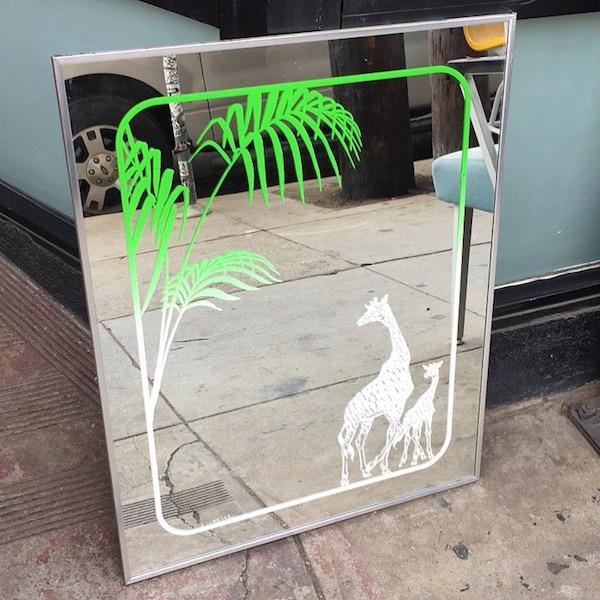 Vintage Giraffe Mirror