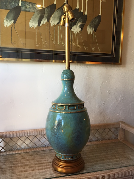 Large and Classic Ceramic Lamp by Marbro