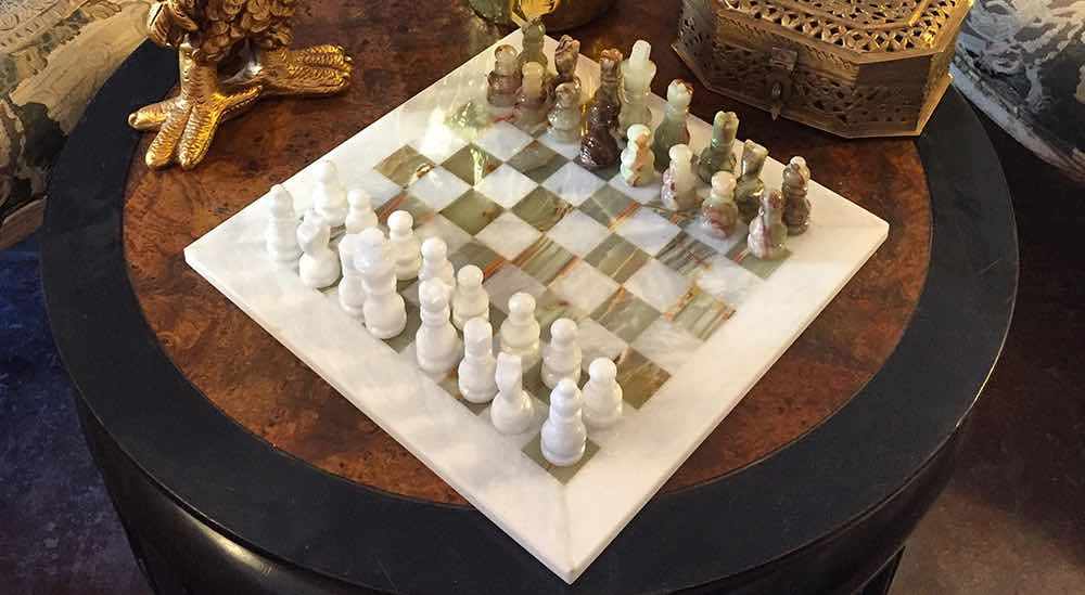 Hand Made Vintage Chess Sets now available at Casa Victoria LA