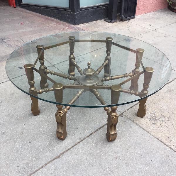 Mid-century Coffee Table Metal Wood