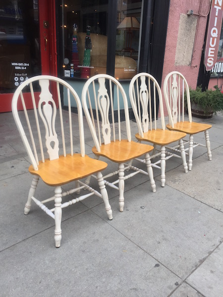 Set of Vintage Windsor Chairs