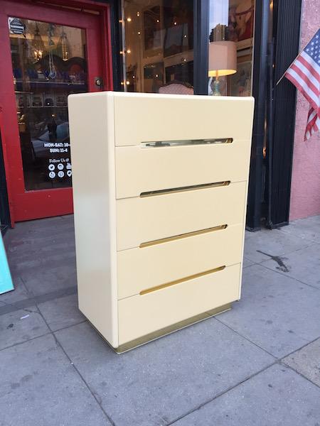 1980s Modern-style Highboy Dresser by LANE
