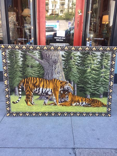 1970s Tiger Fabric Art
