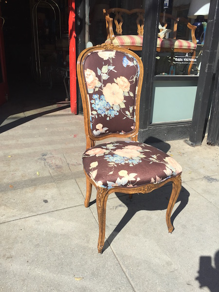 French-style Floral Chair