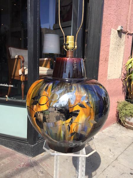 Large Mid-century Ceramic Lamp