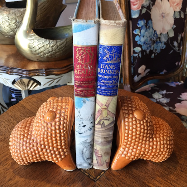 Ceramic Frog Bookends
