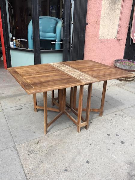 Vintage Drop Leaf Teak Patio Table