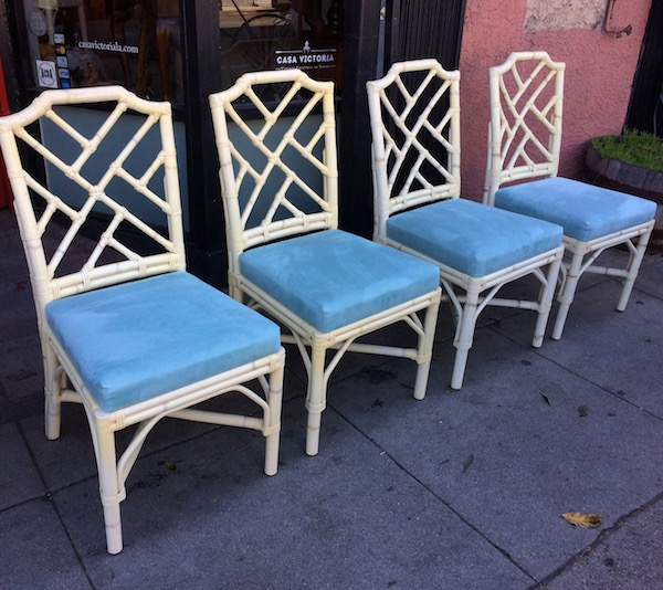 Four Chippendale Pavilion Dining Chairs by PALECEK
